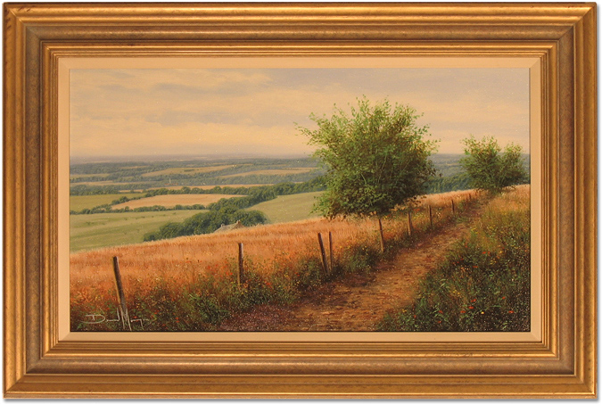 David Morgan, Original oil painting on canvas, Country View, click to enlarge