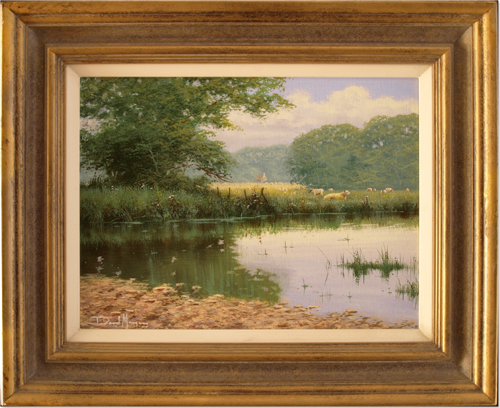 David Morgan, Original oil painting on canvas, River Scene. Click to enlarge