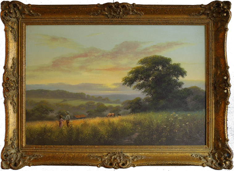 David Morgan, Original oil painting on canvas, Landscape, click to enlarge