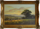 David Morgan, Original oil painting on canvas, River Scene