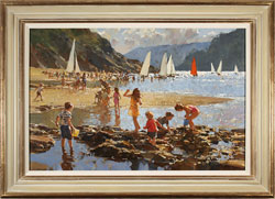 Dianne Flynn, Original acrylic painting on canvas, Ebbtide, Salcombe