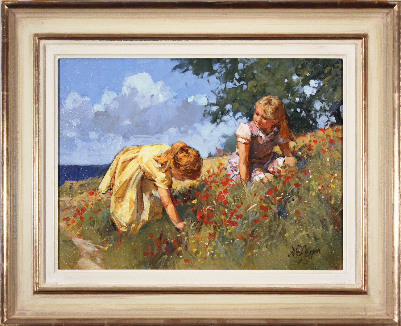 Dianne Flynn, Original acrylic painting on canvas, Maids in a Meadow. Click to enlarge