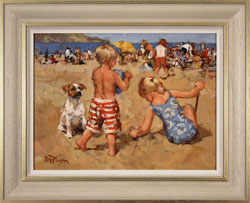 Dianne Flynn, Original acrylic painting on board, The Sands at Lyme