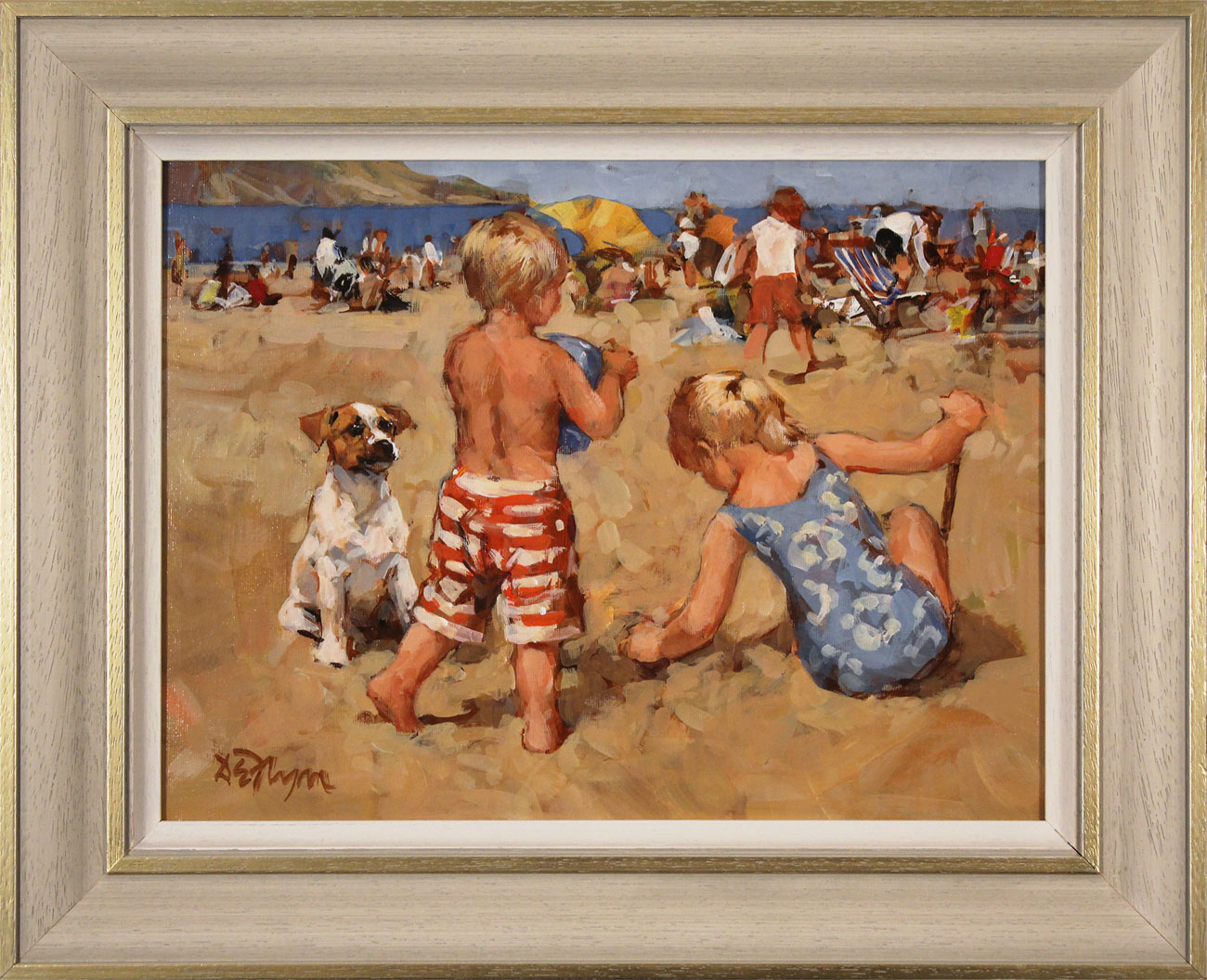 Dianne Flynn, Original acrylic painting on board, The Sands at Lyme. Click to enlarge