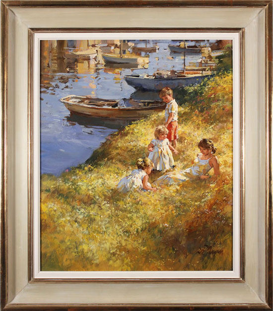 Dianne Flynn, Original acrylic painting on canvas, Summer Afternoon