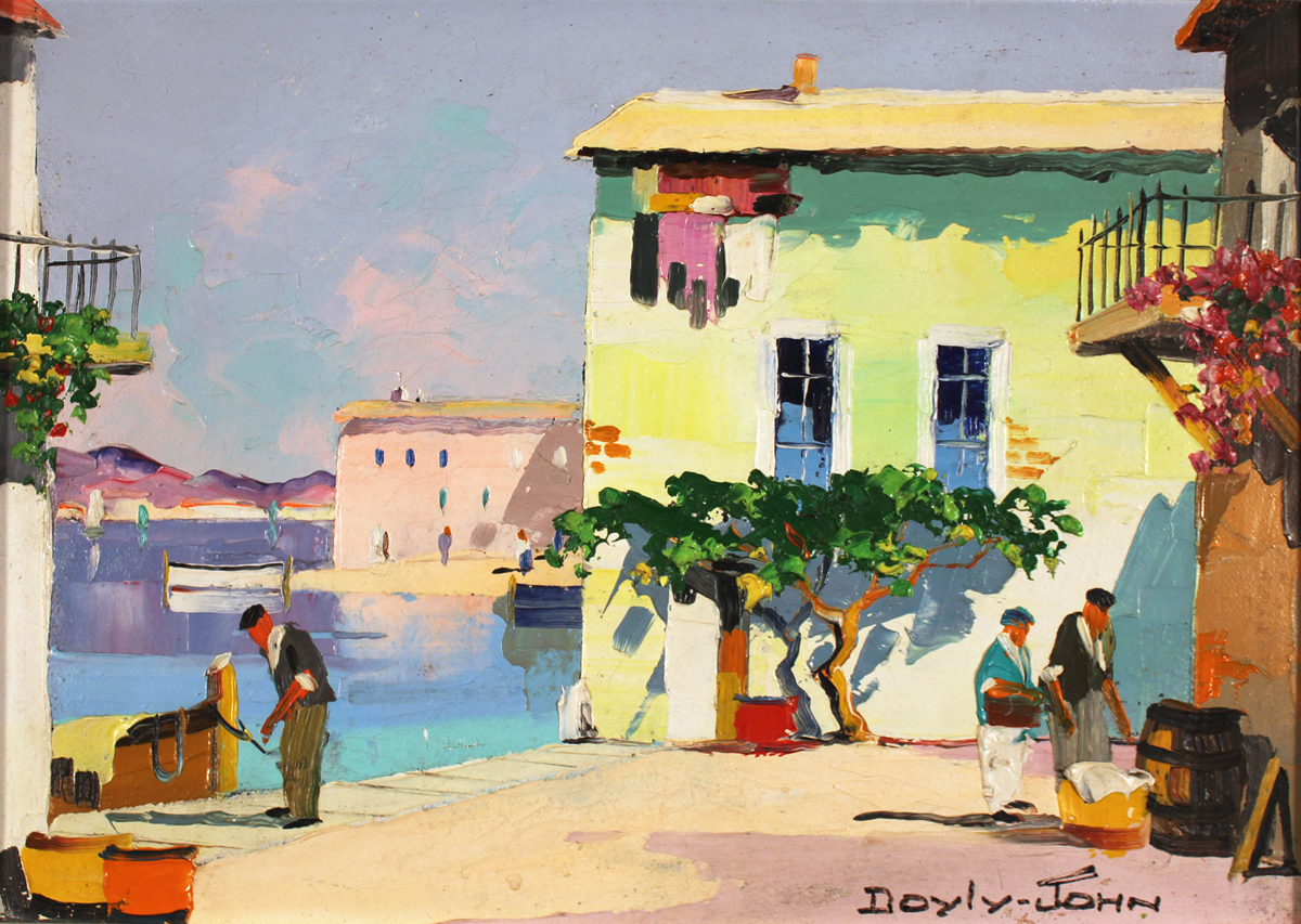 Doyly John, Original oil painting on canvas, Cap Ferrat, South of France. Click to enlarge