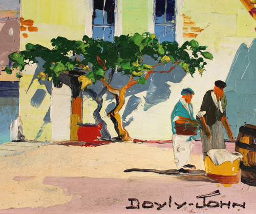 Doyly John, Original oil painting on canvas, Cap Ferrat, South of France Signature image. Click to enlarge