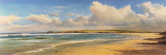 Duncan Palmar, Original oil painting on panel, Constantine Bay, Cornwall  Without frame image. Click to enlarge