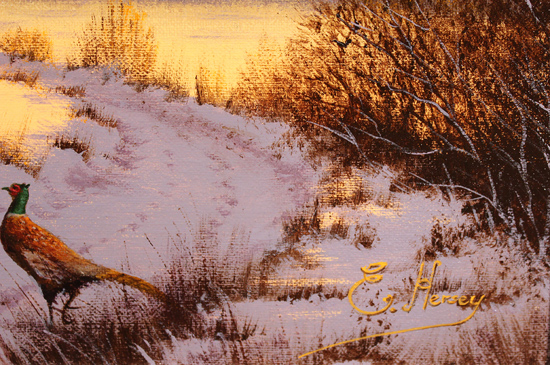 Edward Hersey, Original oil painting on canvas, Evening Falls, North Yorkshire Signature image. Click to enlarge