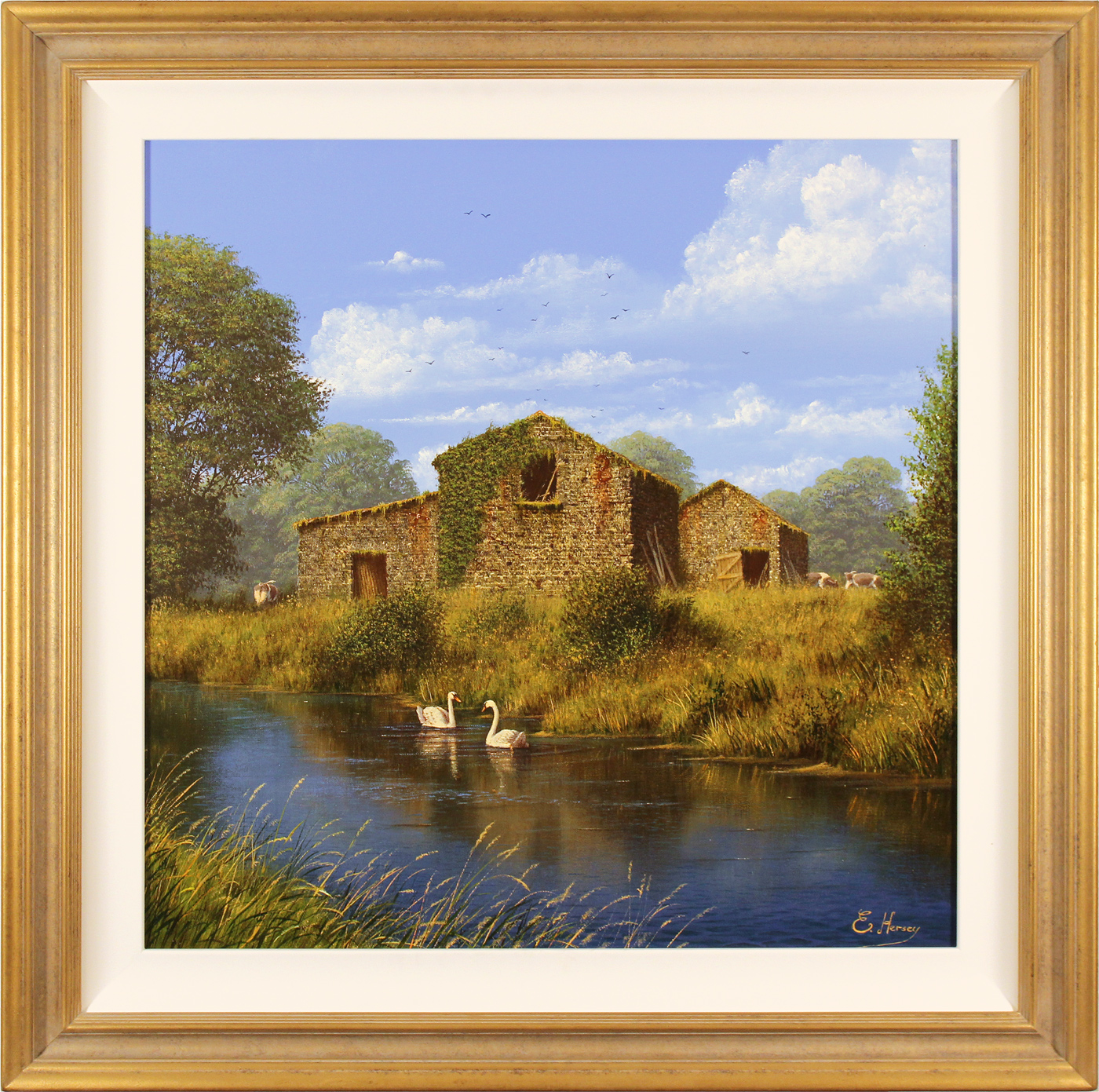 Edward Hersey, Original oil painting on canvas, Summer Graces, click to enlarge