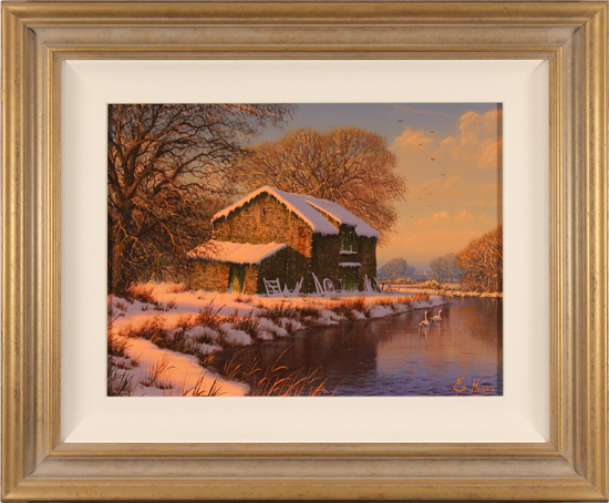 Edward Hersey, Original oil painting on canvas, Winter Serenity