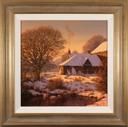 Edward Hersey, Evening Glow, Original oil painting on canvas