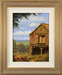 Edward Hersey, Original oil painting on canvas, The Lucky Barn, North Yorkshire