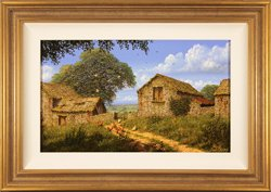 Edward Hersey, Original oil painting on canvas, Hill Top Farm