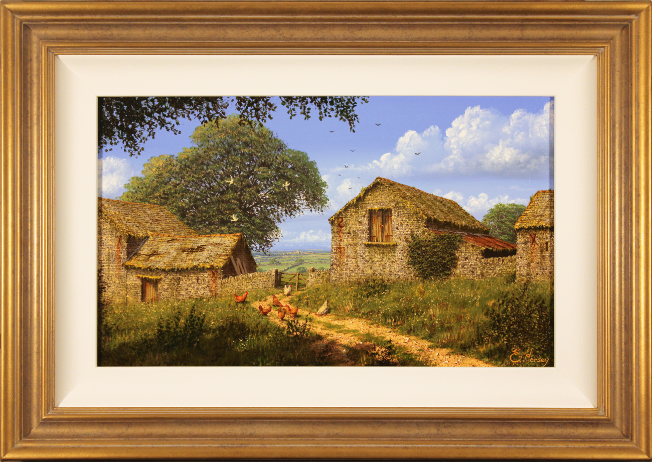 Edward Hersey, Original oil painting on canvas, Hill Top Farm, click to enlarge