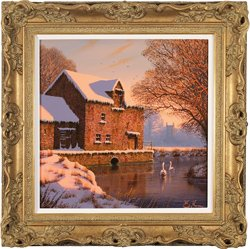 Edward Hersey, Original oil painting on canvas, Mill House Farm, The Cotswolds