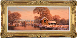 Edward Hersey, Original oil painting on canvas, The Warm Glow of Winter Large image. Click to enlarge