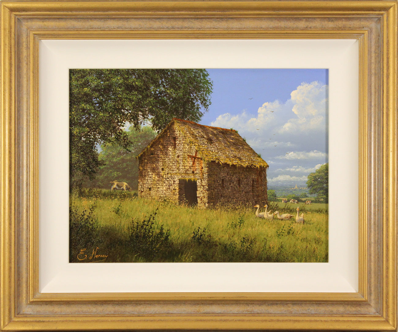 Edward Hersey, Original oil painting on canvas, Summer Solitude. Click to enlarge