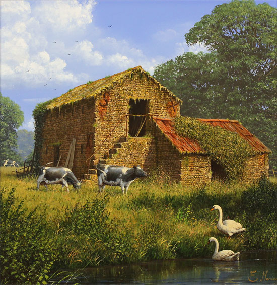 Edward Hersey, Original oil painting on canvas, The Old Dairy