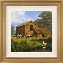 Edward Hersey, The Old Dairy, Original oil painting on canvas