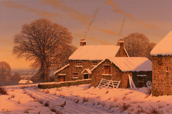 Edward Hersey, Original oil painting on canvas, No Place Like Home No frame image. Click to enlarge