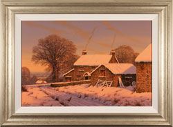 Edward Hersey, Original oil painting on canvas, No Place Like Home Large image. Click to enlarge