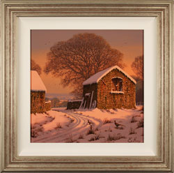 Edward Hersey, Original oil painting on canvas, Winter's Calm Large image. Click to enlarge