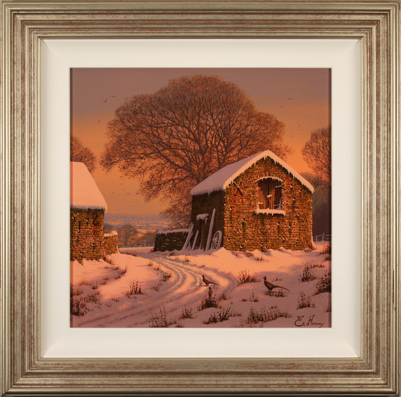 Edward Hersey, Original oil painting on canvas, Winter's Calm. Click to enlarge