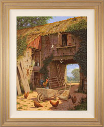 Edward Hersey, Original oil painting on canvas, Tales of the Yard Large image. Click to enlarge