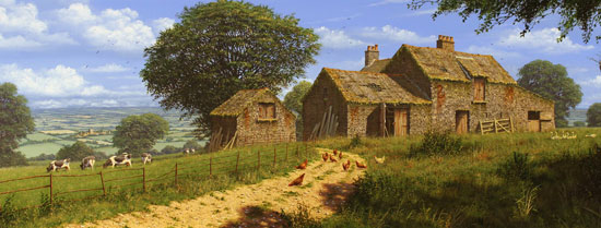 Edward Hersey, Signed limited edition print, View Over the Yorkshire Dales