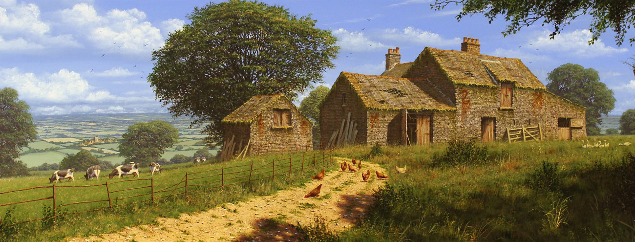 Edward Hersey, Signed limited edition print, View Over the Yorkshire Dales, click to enlarge