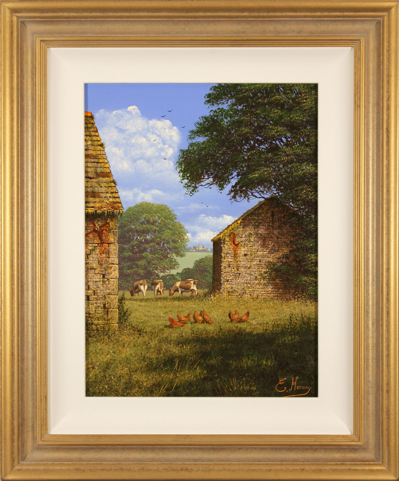 Edward Hersey, Original oil painting on canvas, One Fine Yorkshire Morning. Click to enlarge