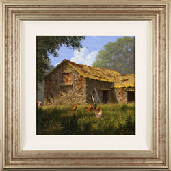 Edward Hersey, Original oil painting on canvas, The Summer Barn Large image. Click to enlarge