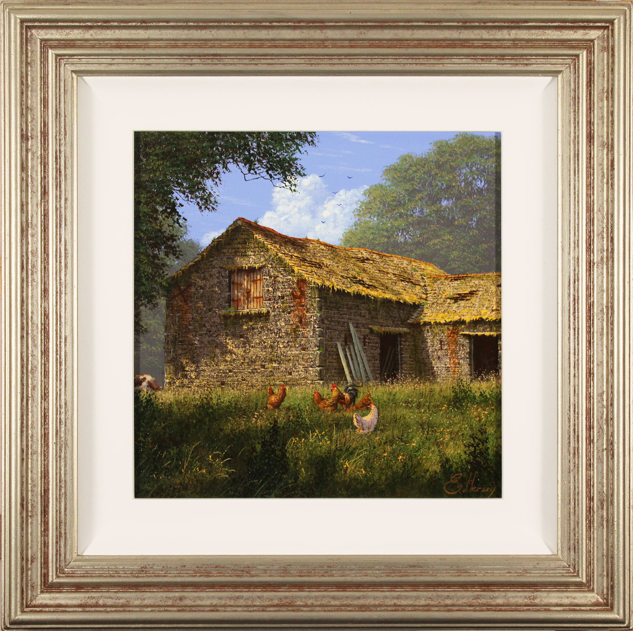 Edward Hersey, Original oil painting on canvas, The Summer Barn. Click to enlarge