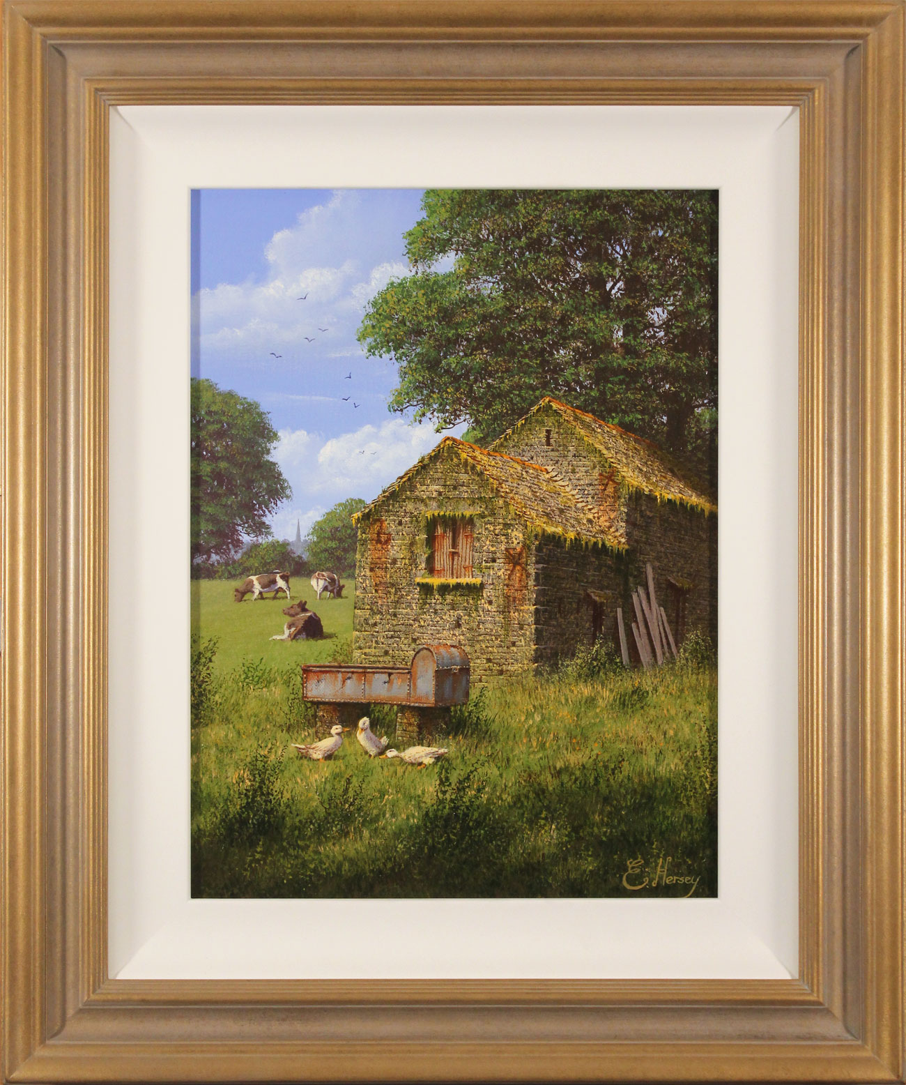 Edward Hersey, Original oil painting on canvas, Moment of Calm. Click to enlarge