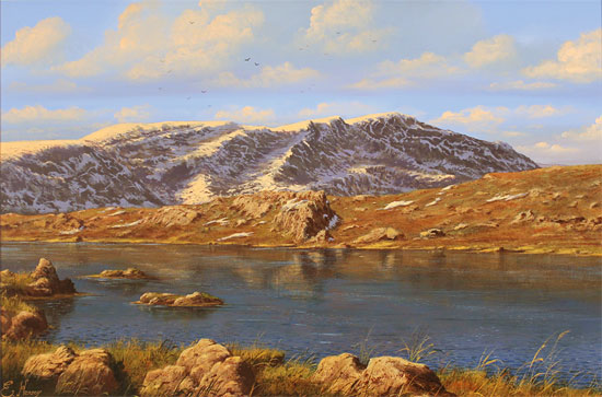 Edward Hersey, Original oil painting on canvas, Innominate Tarn Without frame image. Click to enlarge