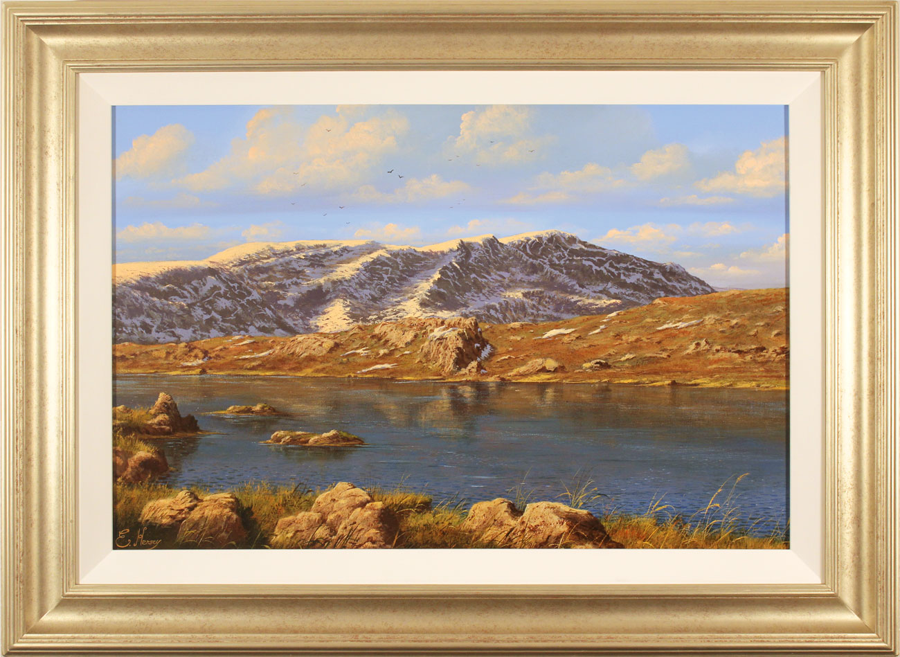 Edward Hersey, Original oil painting on canvas, Innominate Tarn. Click to enlarge