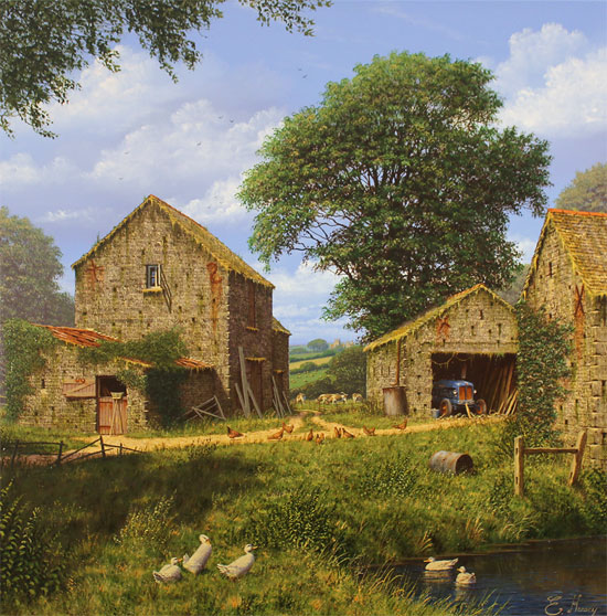 Edward Hersey, Original oil painting on canvas, Days Gone By No frame image. Click to enlarge