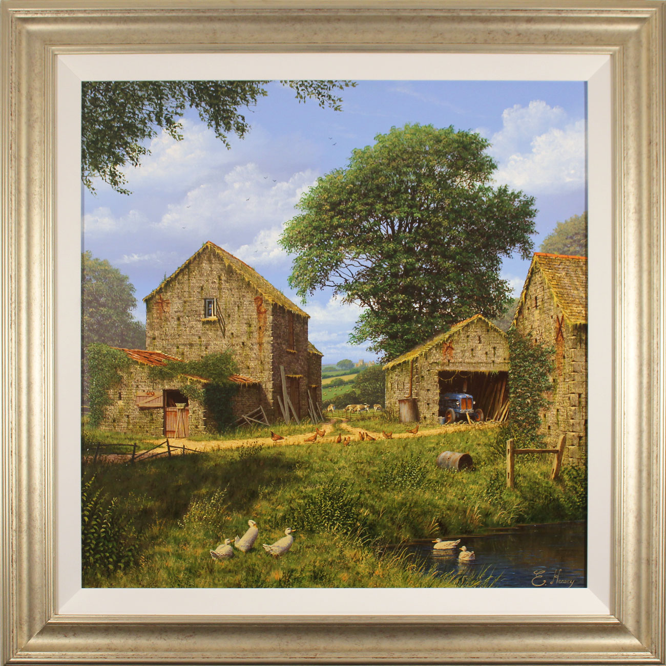 Edward Hersey, Original oil painting on canvas, Days Gone By. Click to enlarge
