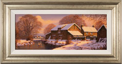 Edward Hersey, Original oil painting on canvas, Winter Warmth, Yorkshire Dales Large image. Click to enlarge