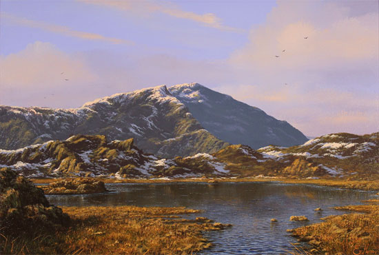 Edward Hersey, Original oil painting on canvas, Innominate Tarn, The Lake District Without frame image. Click to enlarge