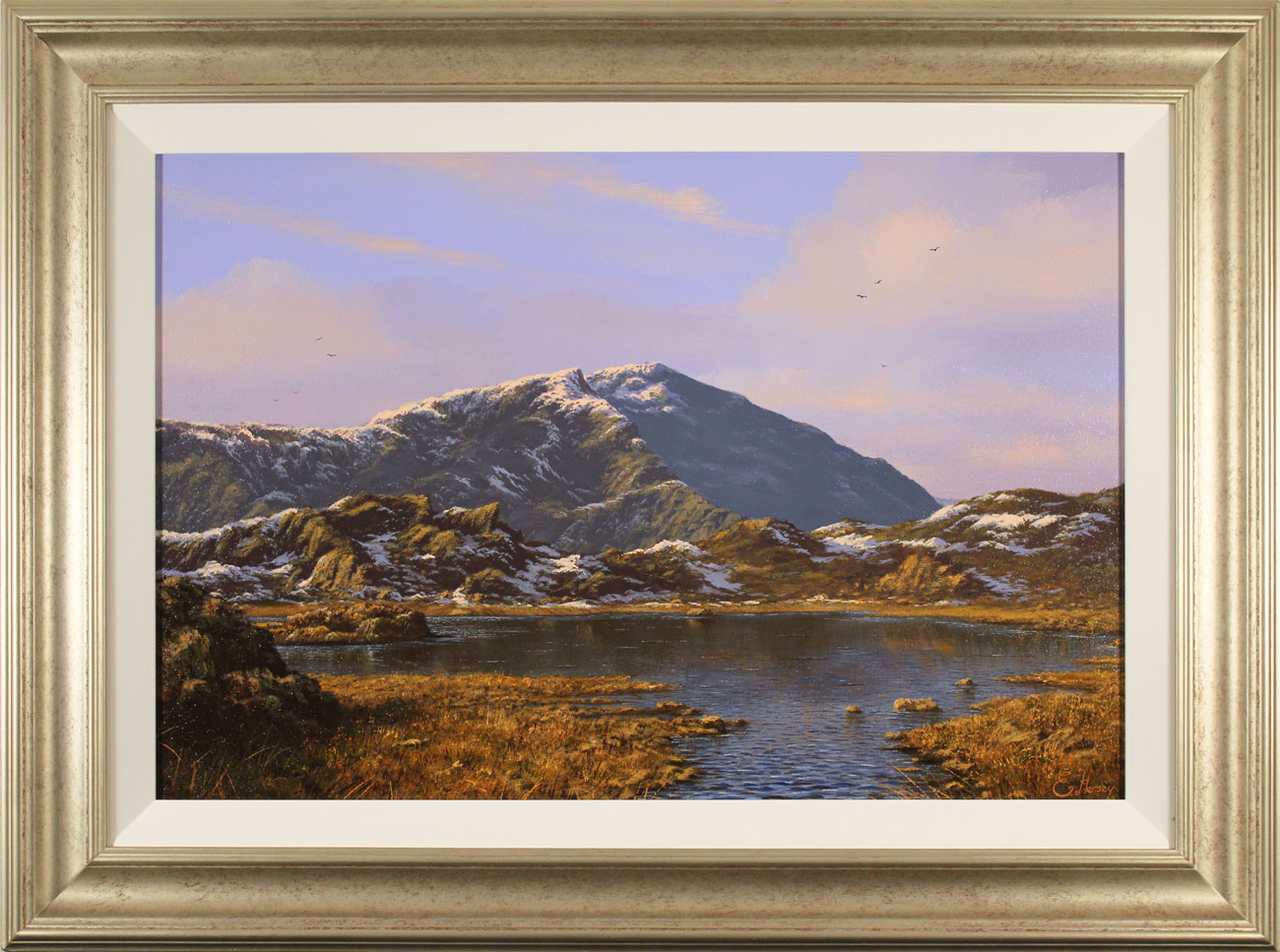 Edward Hersey, Original oil painting on canvas, Innominate Tarn, The Lake District. Click to enlarge