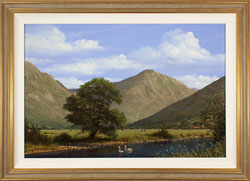 Edward Hersey, Original oil painting on panel, Great Gable, The Lake District