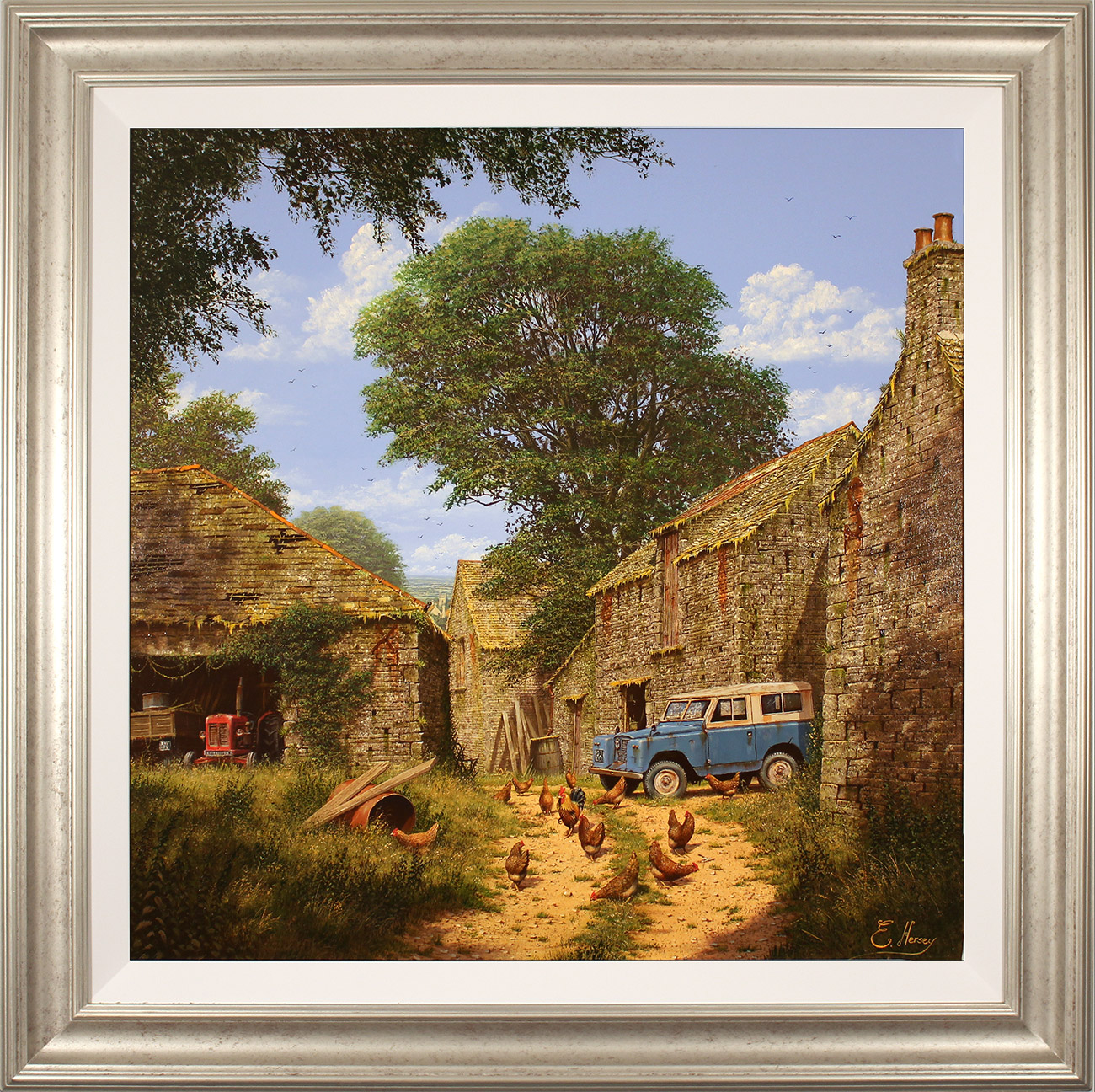 Edward Hersey, Original oil painting on panel, Roving Days Are Done, click to enlarge