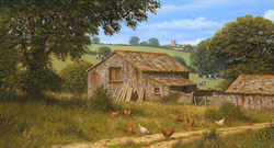 Edward Hersey, Summer Farmhouse, Signed limited edition print