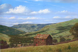 Edward Hersey, Signed limited edition print, Muker, North Yorkshire Large image. Click to enlarge