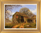 Edward Hersey, Farmyard in Early Spring, The Cotswolds '
