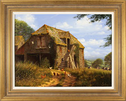 Edward Hersey, Original oil painting on canvas, Stone Barn, North Yorkshire Large image. Click to enlarge