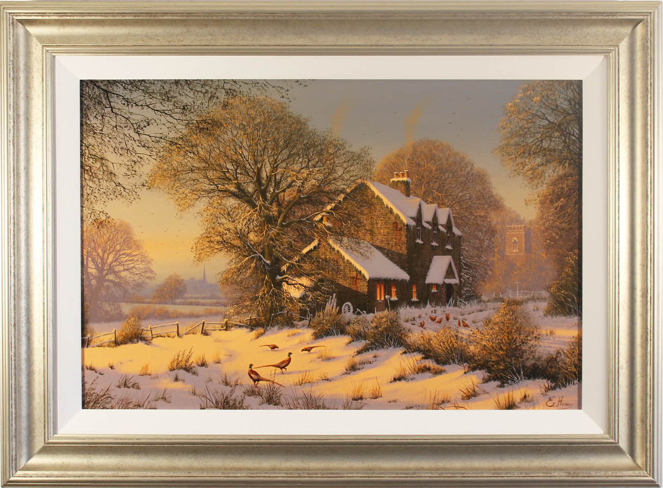 Edward Hersey, Original oil painting on canvas, Afternoon Glow, Yorkshire Dales, click to enlarge