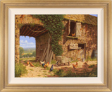 Edward Hersey, Original oil painting on canvas, Farmyard Bustle, North Yorkshire Large image. Click to enlarge